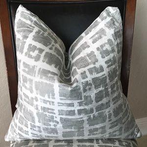 Cotton Luster Velvet Metallic Block Pillows x2